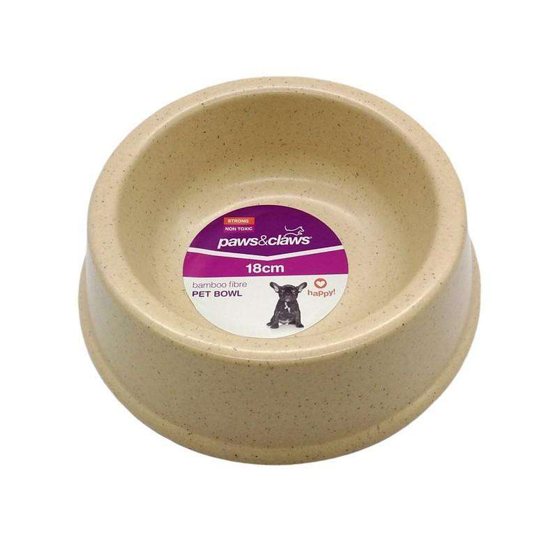 Bamboo Fibre Pet Bowl Cream 18cm