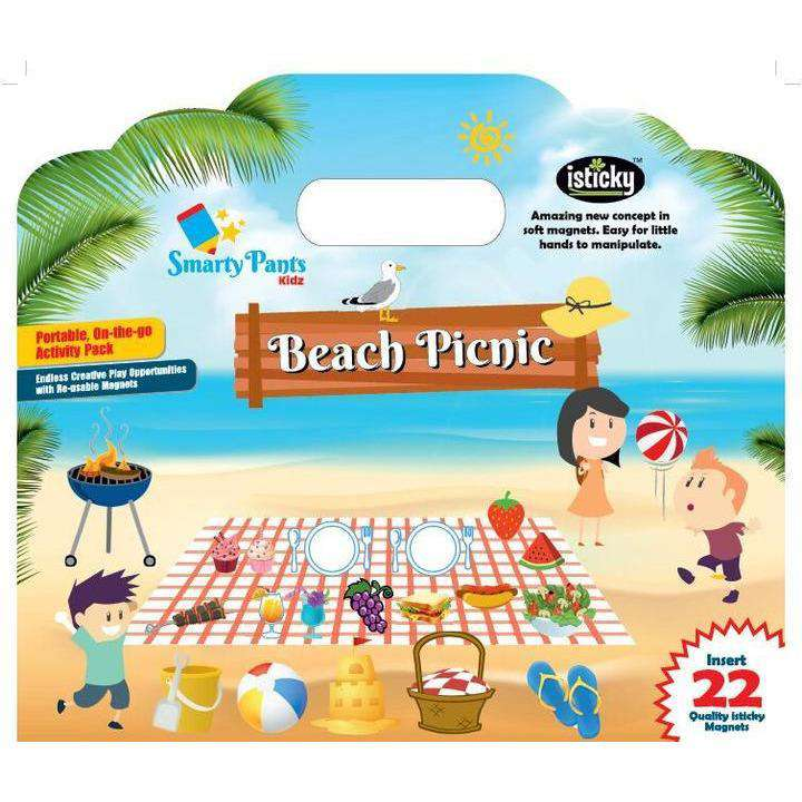 Magnetic Kids Activity Board Picnic On The Beach