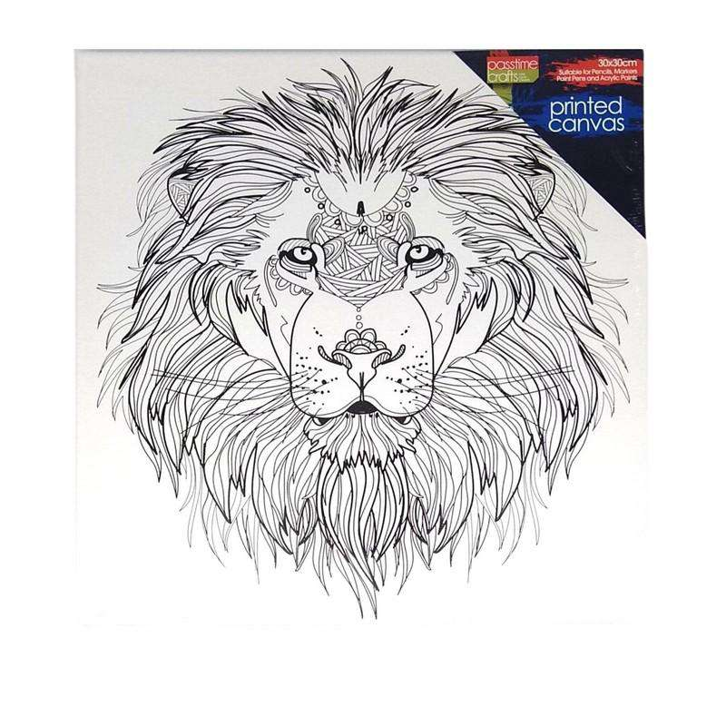 Buy Cheap art & craft online | Colour-in Pre-printed Canvas Lion|  Dollars and Sense cheap and low prices in australia