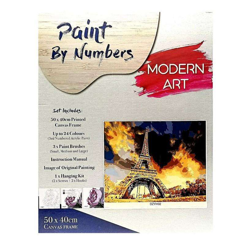 Buy Cheap art & craft online | Paint By Numbers Eiffel with Frame 40x50cm|  Dollars and Sense cheap and low prices in australia