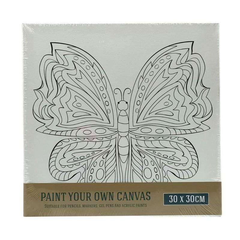 Buy Cheap art & craft online | Printed Canvas Butterfly 30X30cm|  Dollars and Sense cheap and low prices in australia