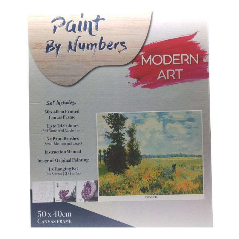 Buy Cheap art & craft online | Paint By Numbers Famous Painting Field with Frame 40x50cm|  Dollars and Sense cheap and low prices in australia