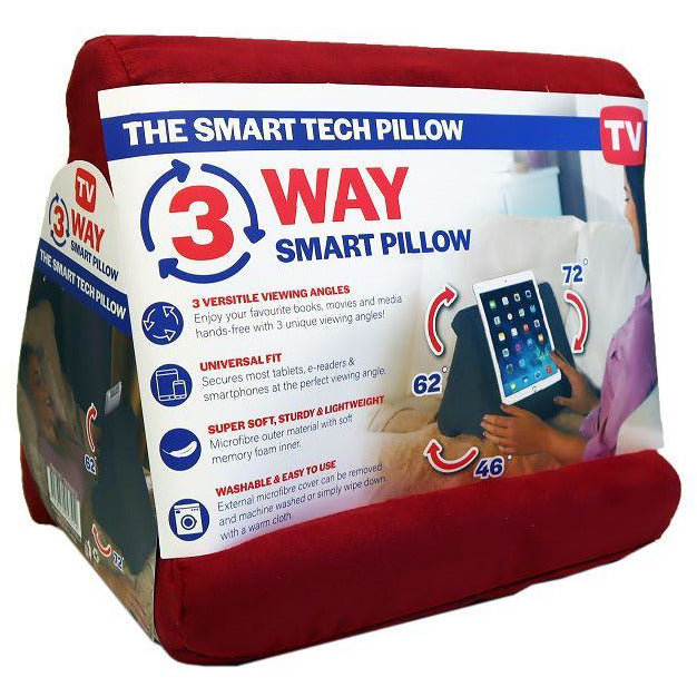 3 Way Wedge Tech Pillow Red