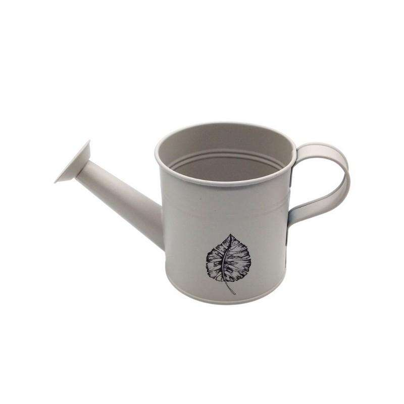 Watering Can Leaf Print Cream 10cm