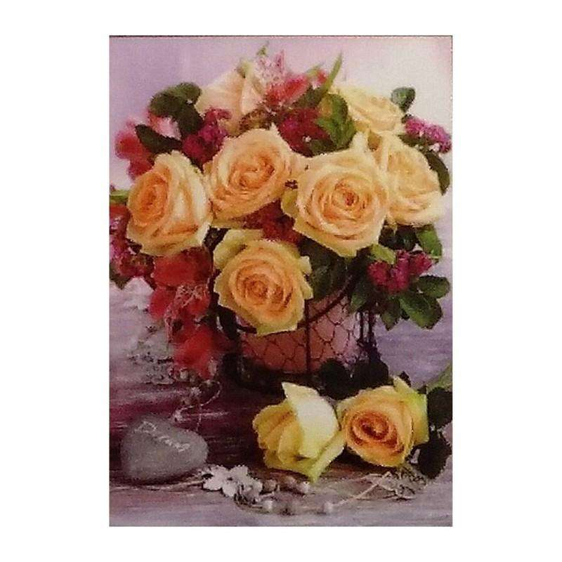 Buy Cheap art & craft online | 5D Diamond Art Flowers Delight 25x35cm|  Dollars and Sense cheap and low prices in australia