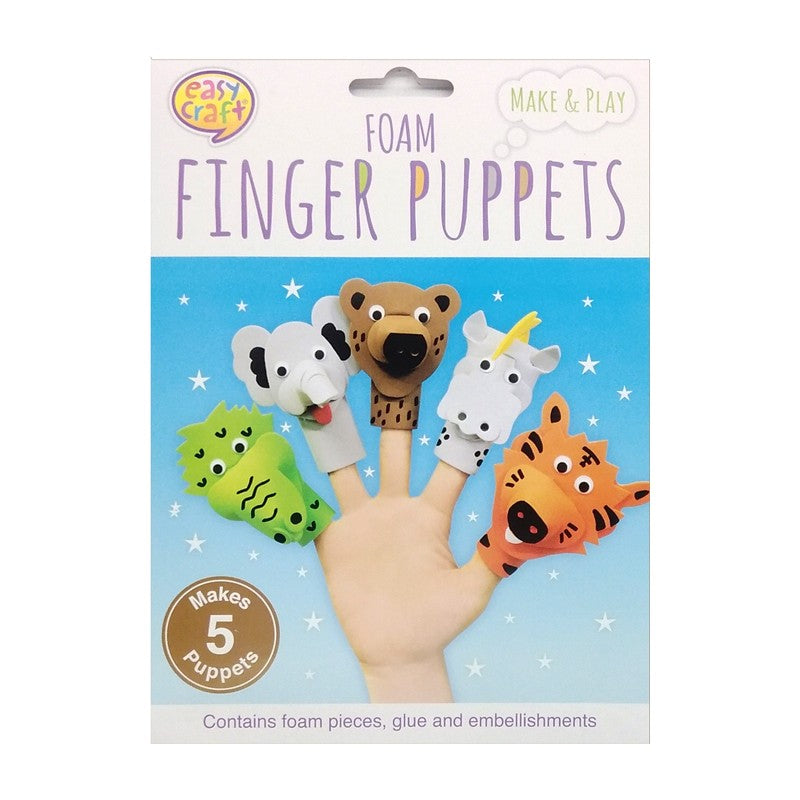 Buy Cheap art & craft online | Foam Finger Puppet Kit 5Pk Assorted Designs|  Dollars and Sense cheap and low prices in australia