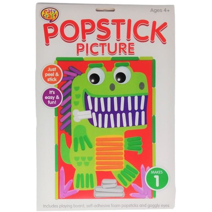 Popstick Picture Craft Kit Assorted 6 Designs