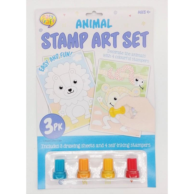 Buy Cheap art & craft online | Stamp Art Kit 3Pk Assorted 4 Designs|  Dollars and Sense cheap and low prices in australia