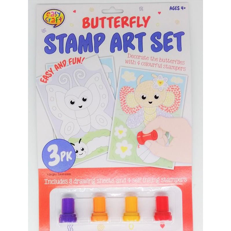 Stamp Art Kit 3Pk Assorted 4 Designs