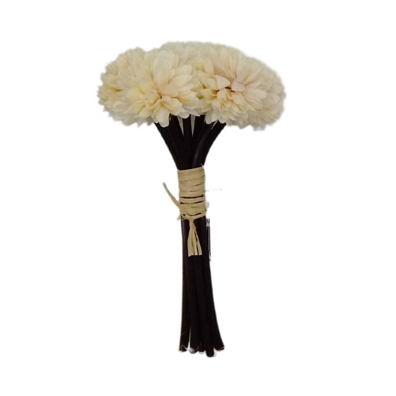 Artificial Flower Bunch Pastel White Floss 16cm