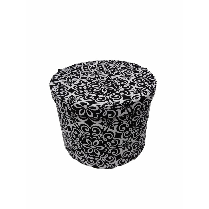 Fabric Round Storage Box 19Hx24W