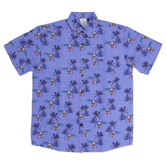 Christmas Hawaiian Shirts Blue