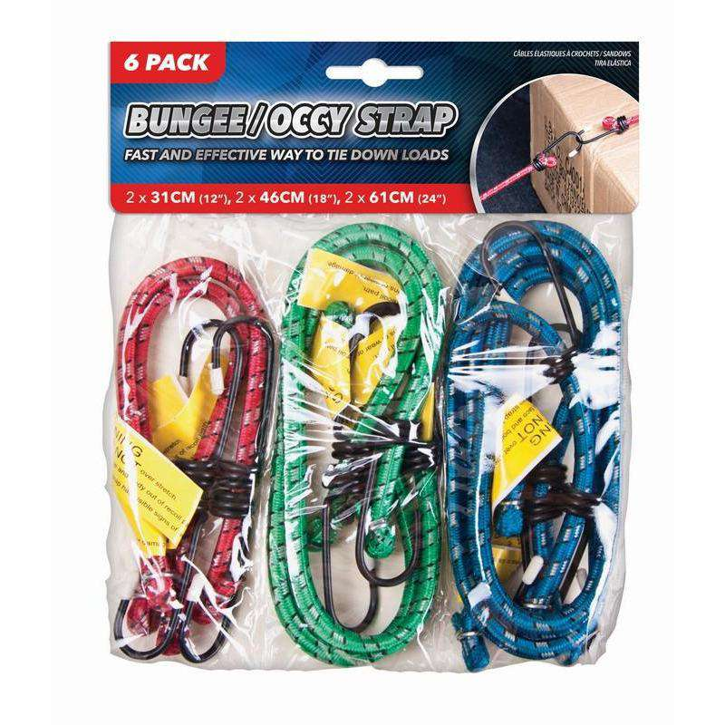 Bungee Occy Strap Set 6Pk