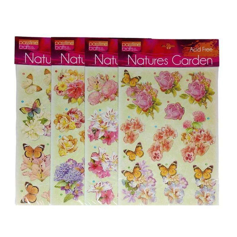 Buy Cheap art & craft online | Natures Garden Assorted Butterfly Stickers Pack of 4|  Dollars and Sense cheap and low prices in australia