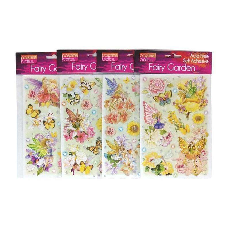 Fairy Garden Stickers Self Adhesive Pack of 4