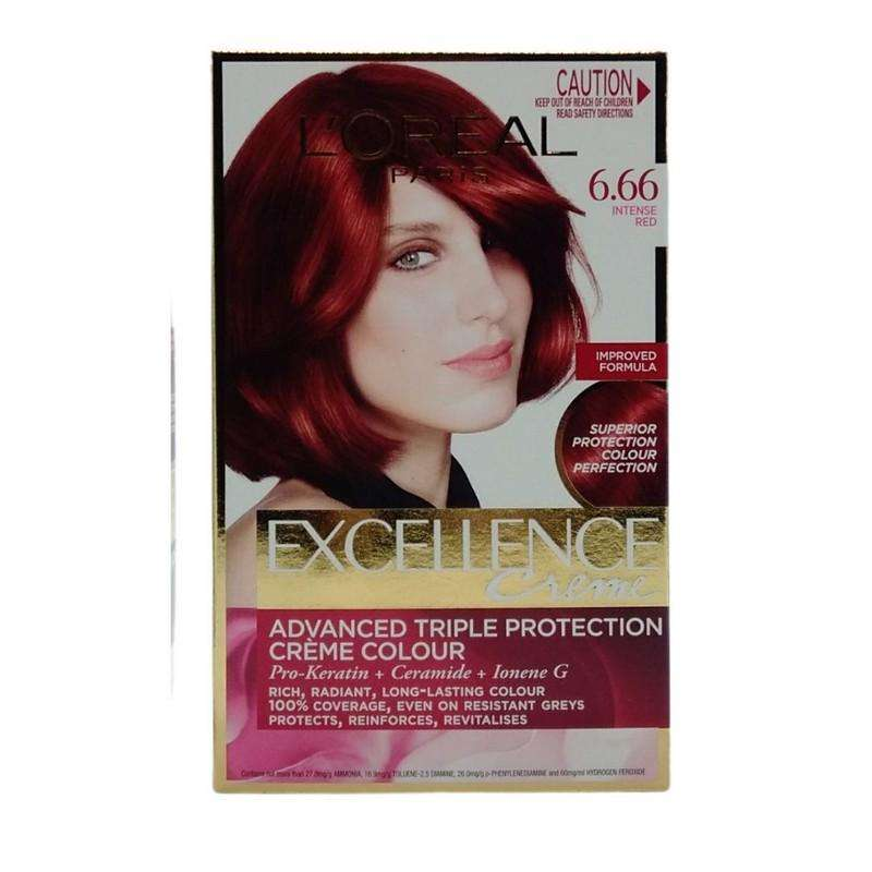 Loreal Creme Hair Colour 6.66 Intense Red