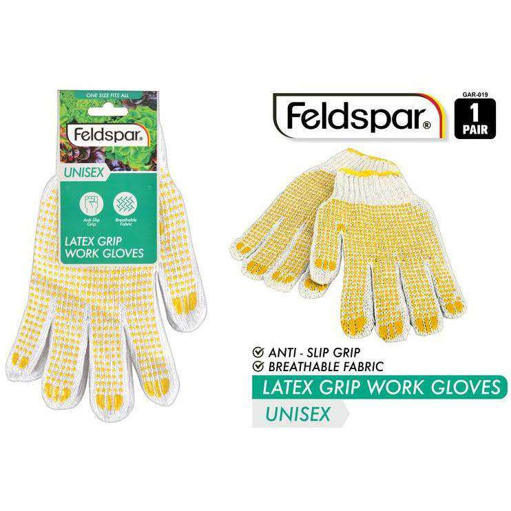 Buy Latex Grip Work Gloves Anti Slip Grip Breathable Fabric | Dollars and Sense