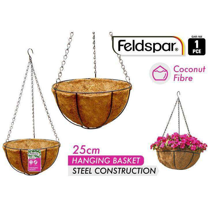 Buy Hanging Planter with Coconut Liner 25cm | Dollars and Sense