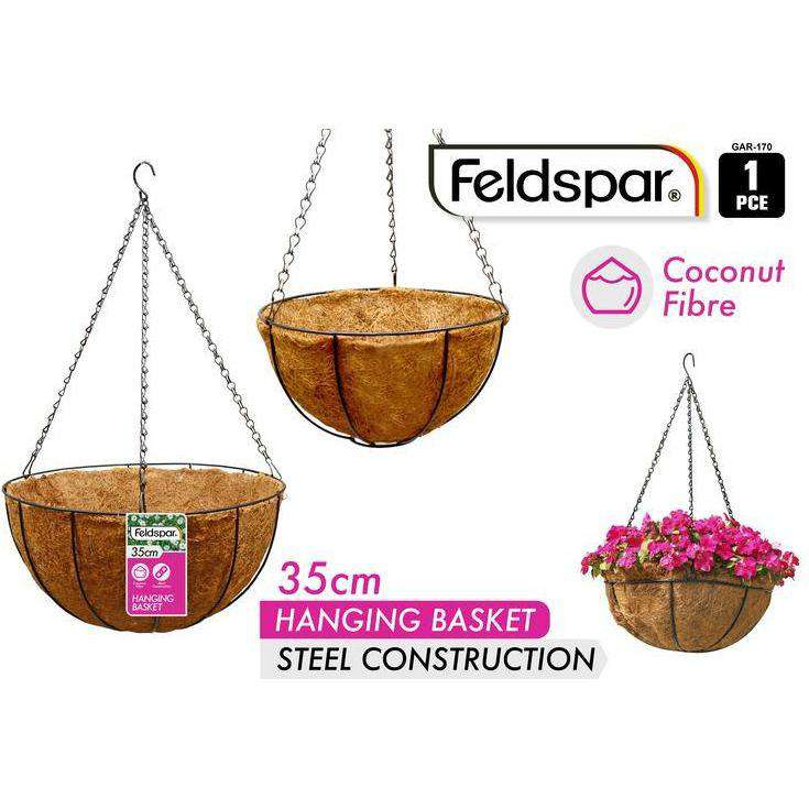 Buy Hanging Planter with Coconut Liner 35cm | Dollars and Sense