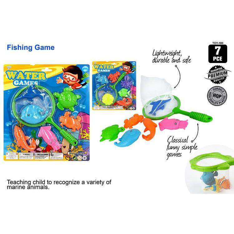 7pce Fishing Set w/Net