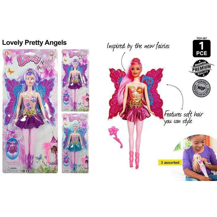 1pce Fairy Doll (Bendable) 29cm