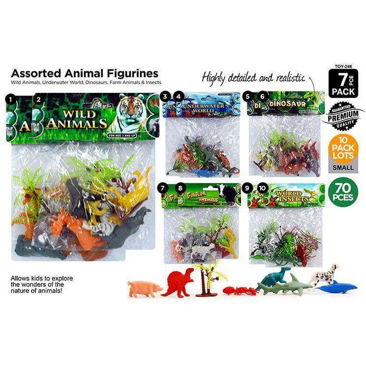 Animals Farm-Sea Jungle Dino Insect 7pce