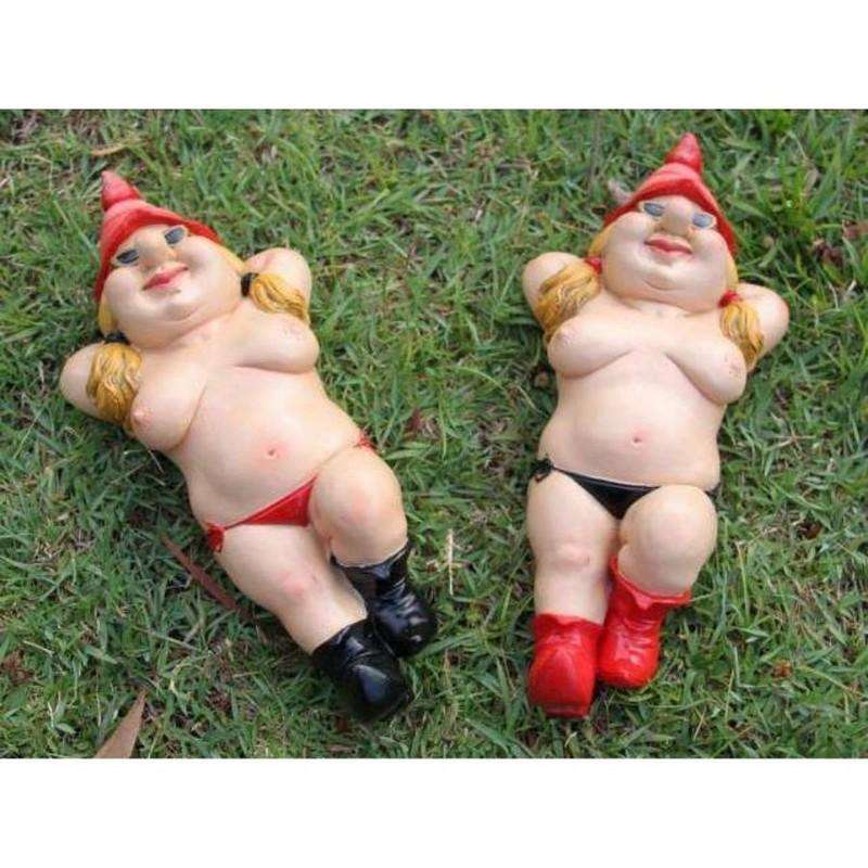 Nudist Garden Gnome 2 Assorted 26cm
