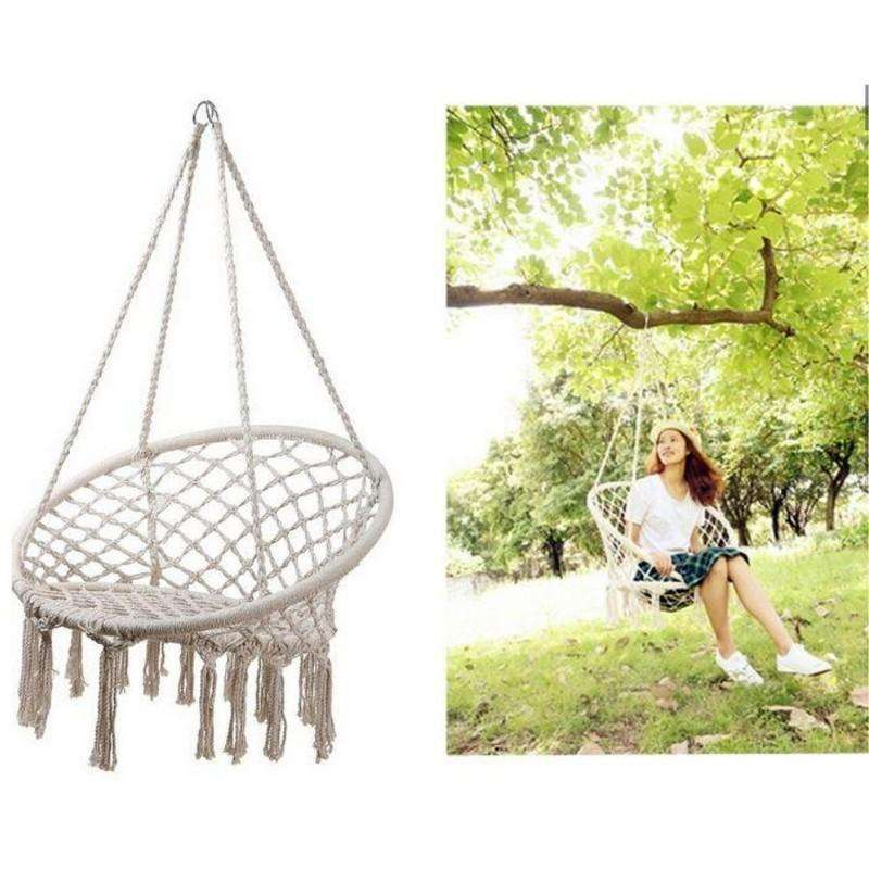 Macrame Hanging Chair 123cm Max 100Kg