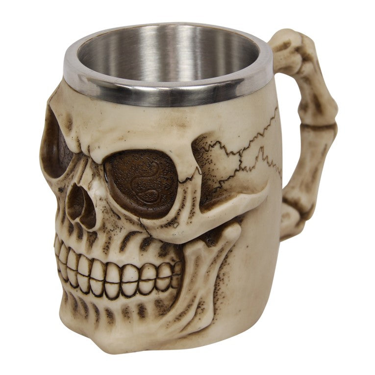 Skull Head Mug Gift Boxed 13cm