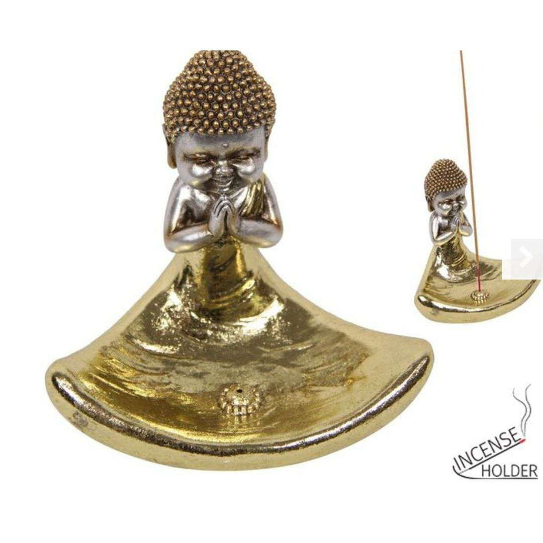 Gold Buddha Incense Holder 10cm
