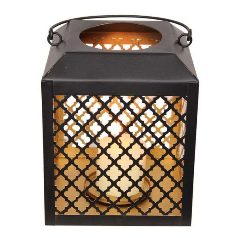 Black and Gold Square Lantern