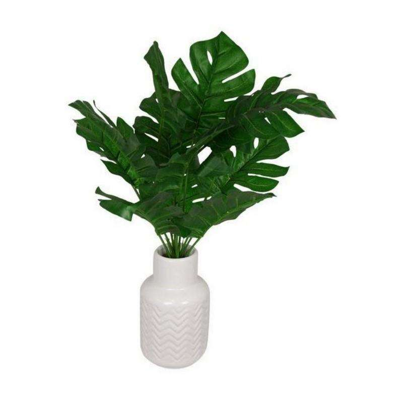 Green Ferm in White Decor Pot 45cm