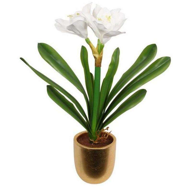 Lily in Gold Pot 45cm