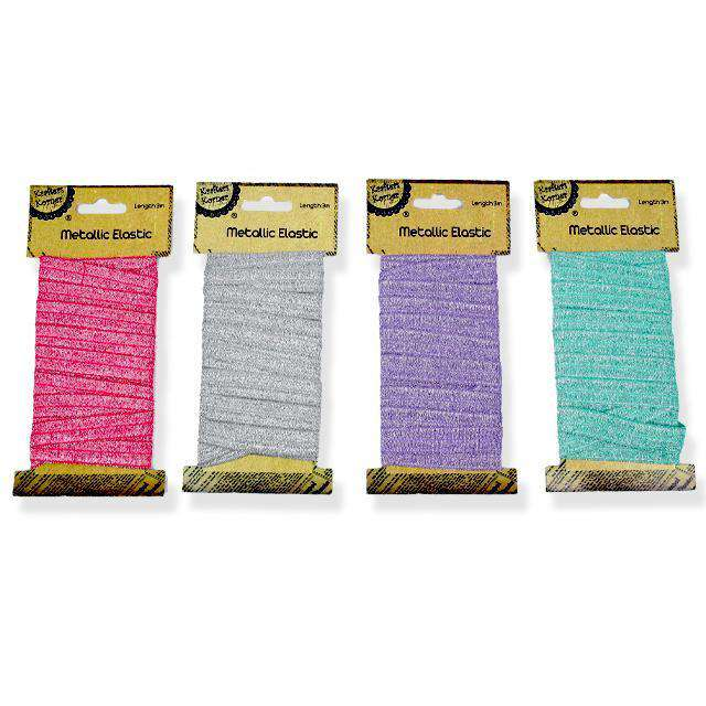 Metallic Elastic 3m Assorted Colors