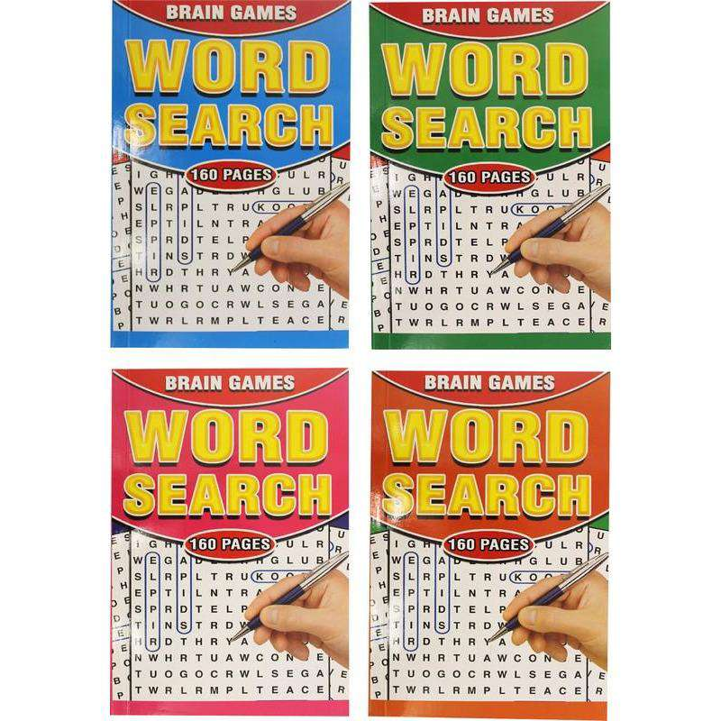 Word Search Brain Games Book A5 160pg