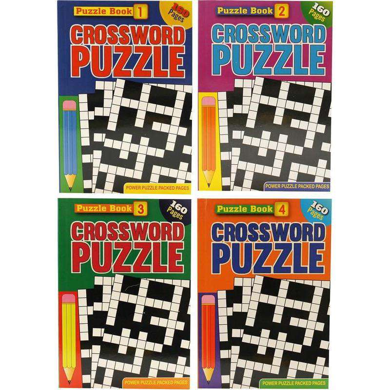 Crossword Puzzle Book - 160 Pages A5 Assorted