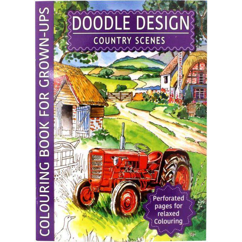 Doodle Design Adult Colouring Book Book - Assorted