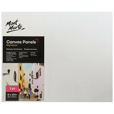 Buy onilne Mont Marte Signature Canvas Panels 2pc 20.3 x 25.4cm (8 x 10in) | Dollars and Sense cheap and low prices in australia
