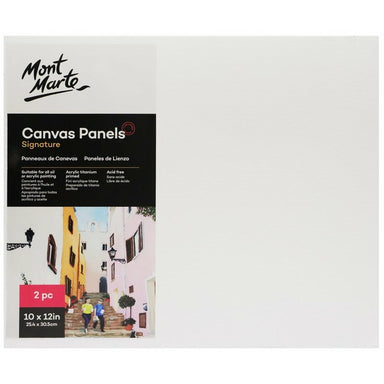 Buy onilne Mont Marte Signature Canvas Panels 2pc 25.4 x 30.5cm (10 x 12in) | Dollars and Sense cheap and low prices in australia