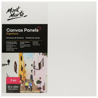 Buy onilne Mont Marte Signature Canvas Panels 2pc 30.5 x 30.5cm (12 x 12in) | Dollars and Sense cheap and low prices in australia