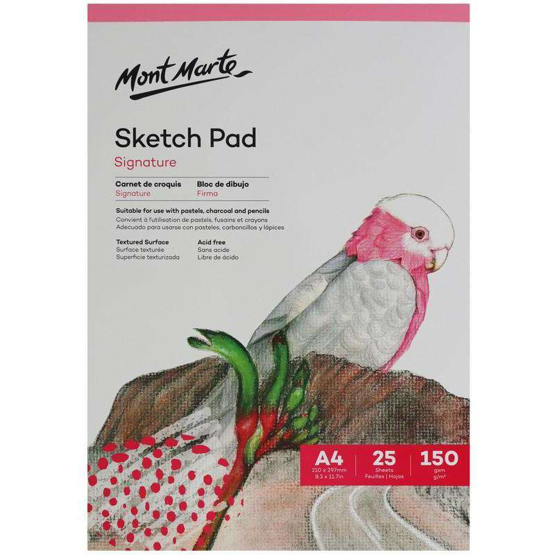 Buy onilne Mont Marte Mont Marte A4 Sketch Pad 150gsm 25 Sheets | Dollars and Sense cheap and low prices in australia