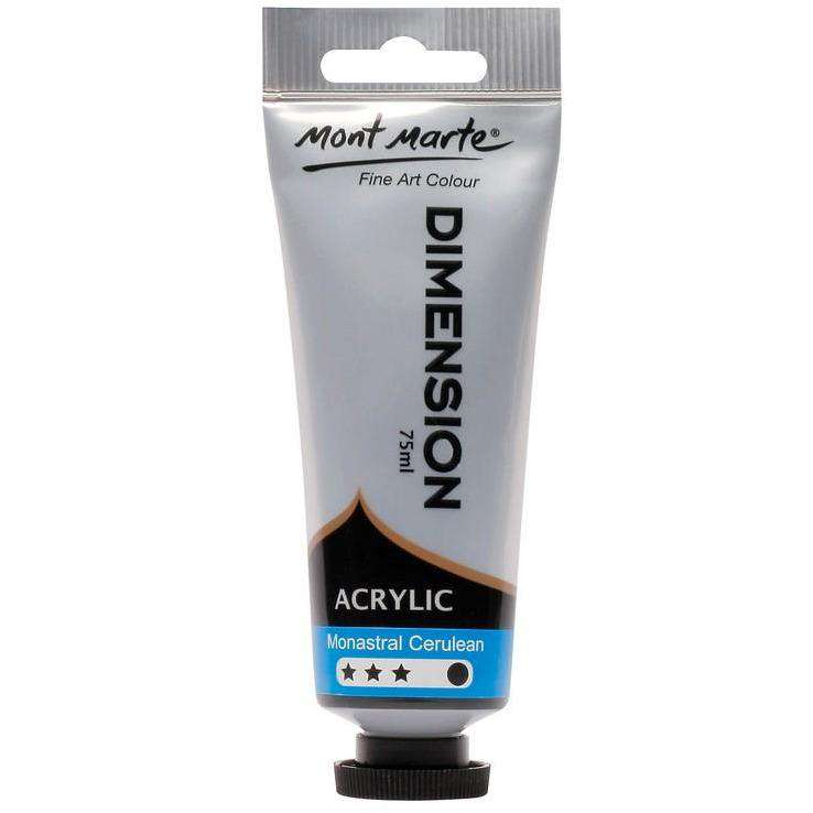 Buy onilne Mont Marte Dimension Acrylic Paint 75ml - Monastral Cerulean | Dollars and Sense cheap and low prices in australia
