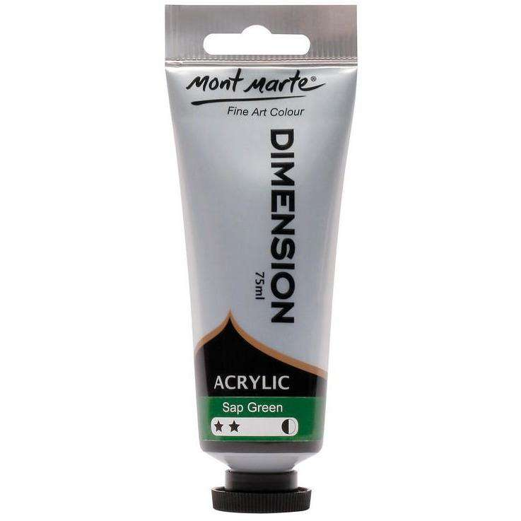 Buy onilne Mont Marte Dimension Acrylic Paint 75ml - Sap Green | Dollars and Sense cheap and low prices in australia