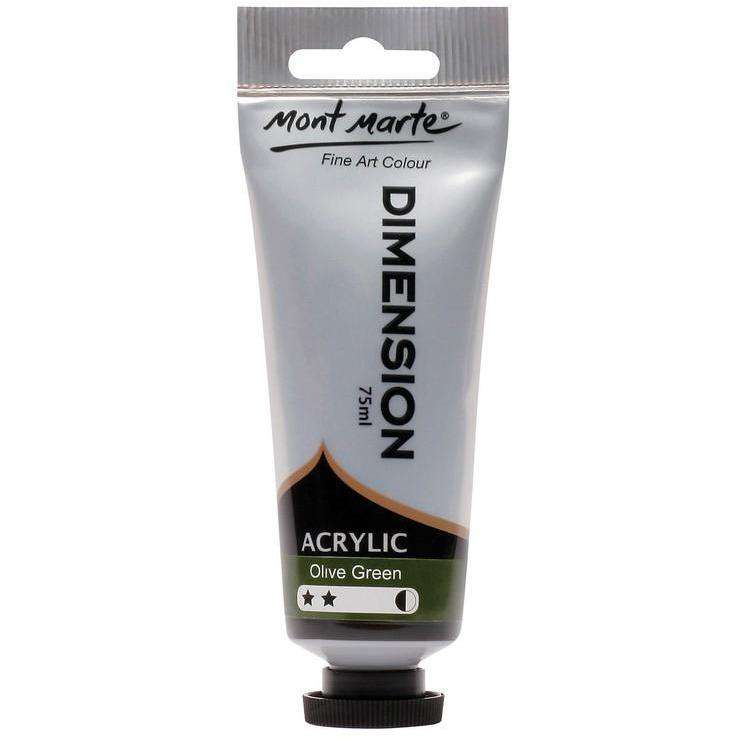 Dimension Acrylic 75ml - Olive Green
