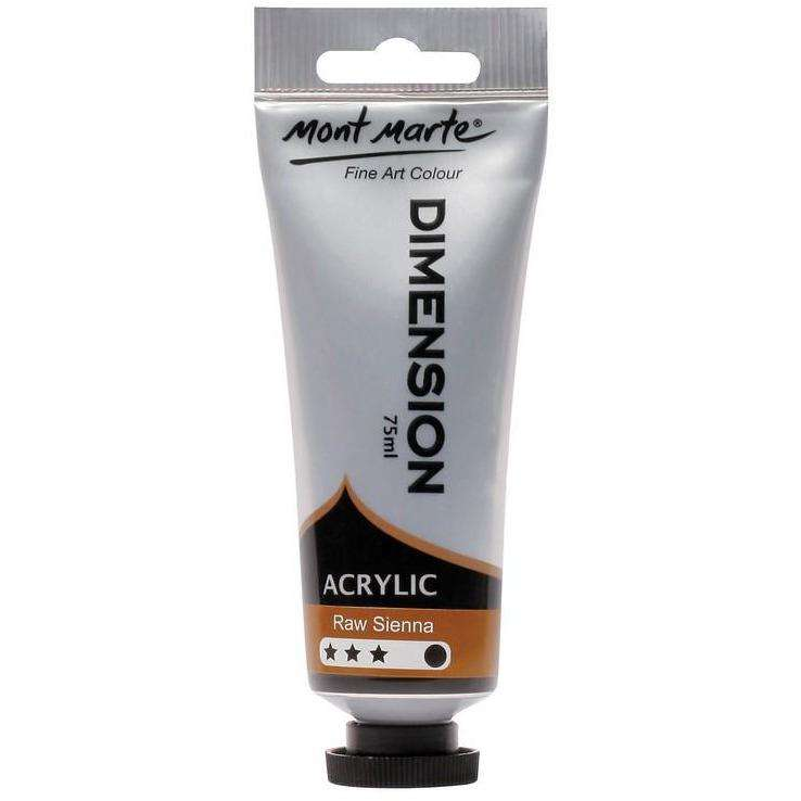 Buy onilne Mont Marte Dimension Acrylic Paint 75ml - Raw Sienna | Dollars and Sense cheap and low prices in australia