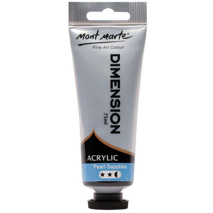 Buy onilne Mont Marte Dimension Acrylic Paint 75ml - Pearl Sapphire | Dollars and Sense cheap and low prices in australia