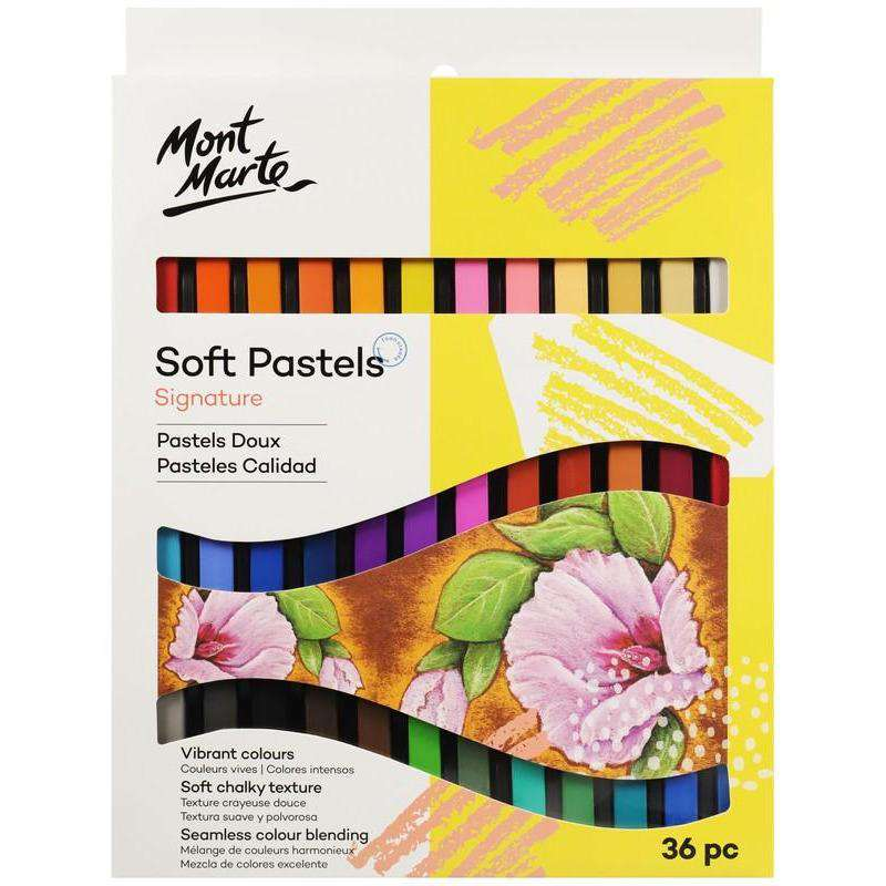 Buy onilne Mont Marte Signature Soft Pastels 36pce | Dollars and Sense cheap and low prices in australia