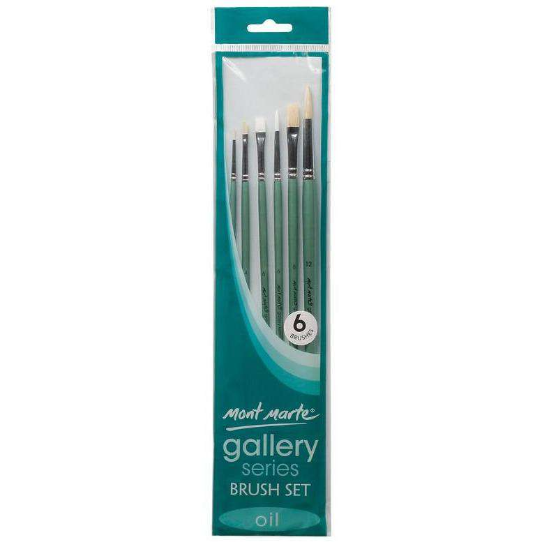 Buy onilne Mont Marte Gallery Series Oil Paint Brush Set 6pc | Dollars and Sense cheap and low prices in australia