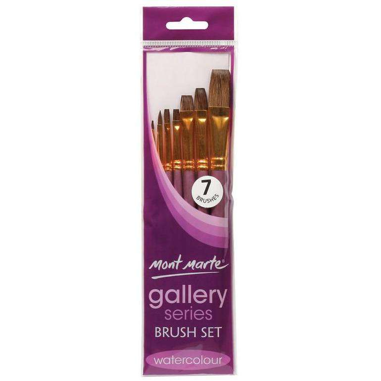 Buy onilne Mont Marte Gallery Series Watercolour Brush Set 7pc | Dollars and Sense cheap and low prices in australia