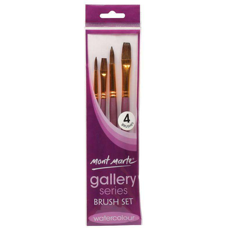 Buy onilne Mont Marte Gallery Series Watercolour Brush Set 4pc | Dollars and Sense cheap and low prices in australia